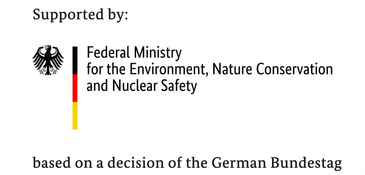 Logo: Supported by the German Federal ministry for the Environment, Nature Conservation and Nuclear Safety